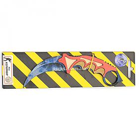 """Дерев'яний ніж іграшка """"Керамбіт"""" (Синій Кристал) з Counter-Strike (арт.KAR-C)"""