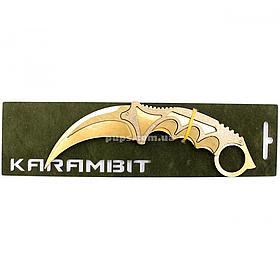 """Дерев'яний ніж іграшка """"Керамбит""""(Золото) з Counter-Strike ( арт.KAR-G)"""