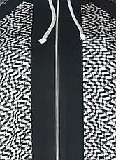 Стильный кардиган батал для полных женщин черно-белый, фото 3