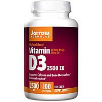 Витамин Д3, 2500 IU, Jarrow Formulas, 100 капсул