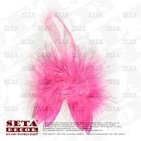 Розовые крылья мини 8х8 см перо, пух, подвесной декор