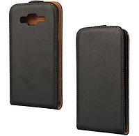 [ Чехол-флип для Samsung Galaxy A7 A700 ] Чехол для смартфона Самсунг А7 А700 черный