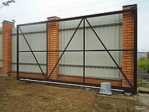Відкатні ворота ескізи конструкція