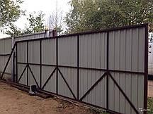 Відкатні ворота з електроприводом