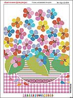 Схема для вышивки бисером Цветочный феерверк