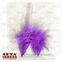 Фиолетовые крылья мини 8х8 см перо, пух, подвесной декор