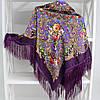 Платок баклажановый в народном стиле (611007), фото 4