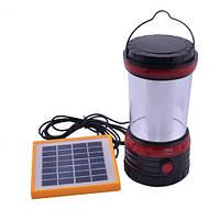 Кемпинговый фонарь YJ-5835DT, регулировка яркости, аккумулятор, солнечная зарядка, USB-выход