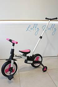 Триколісний велосипед-трансформер Best Trike c рід ручкою блакитний Рожевий