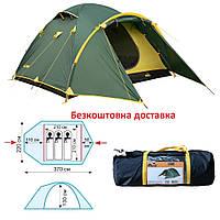 Палатка Tramp Lair 3 v2 (TRT-039) трехместная кемпинговая