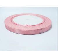 Лента (атлас) 1см цвет розовый