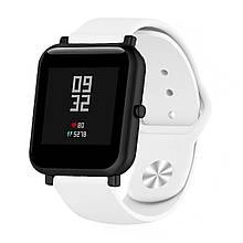 Ремешок BeWatch силиконовый для Xiaomi Amazfit BIP Белый (1010302)