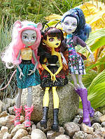 Набор из 3 кукол новой серии Boo York-Луна, Эль и Мауседес Monster High Boo York Boo York Character Doll Bundl