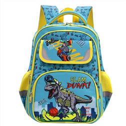 Рюкзак ортопедический с динозаврами для мальчика 1, 2, 3, 4 класс