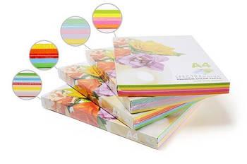 Бумага цветная для принтера Микс Пастель А4 160г/м 50л. SPECTRA color Радуга 5*10л.