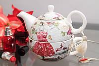 """Чайник заварочный с чашкой """" Red Dress"""", фото 1"""