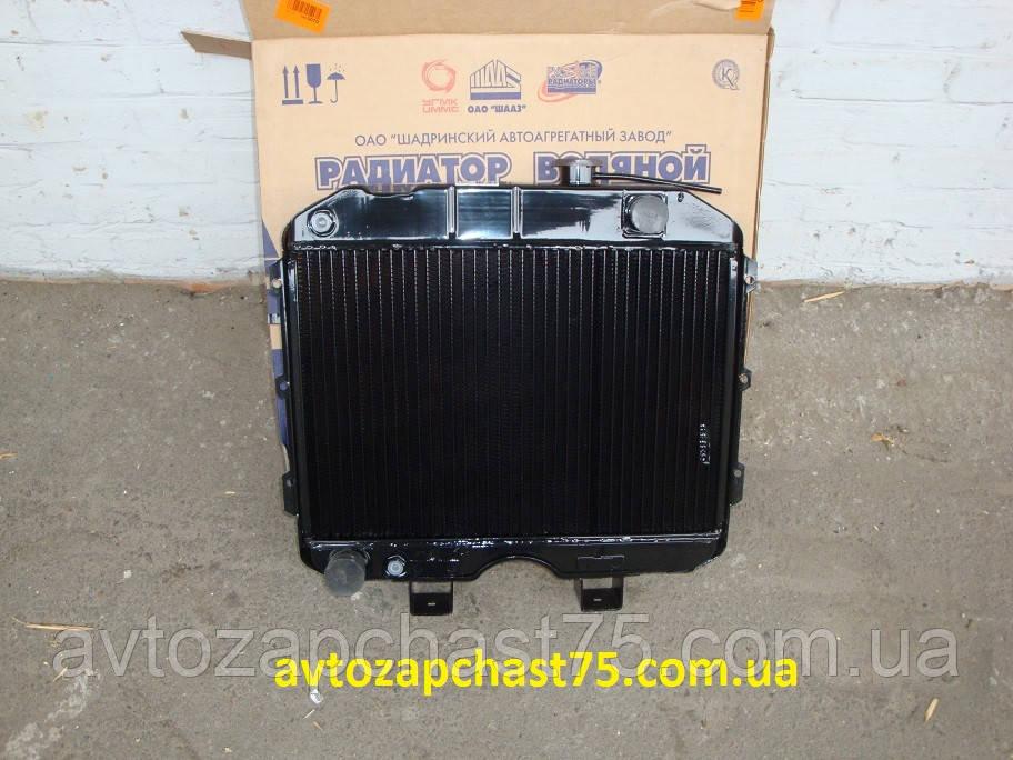Радиатор Уаз  3-х рядный , медный (Шадринский автомобильный завод, Россия)