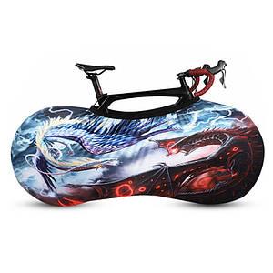 Чохол для велосипеда West Biking 0719219 Dragons розмір M велочохол дощовик