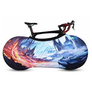 Чохол для велосипеда West Biking 0719219 Ice and Fire розмір M велочохол дощовик накидка