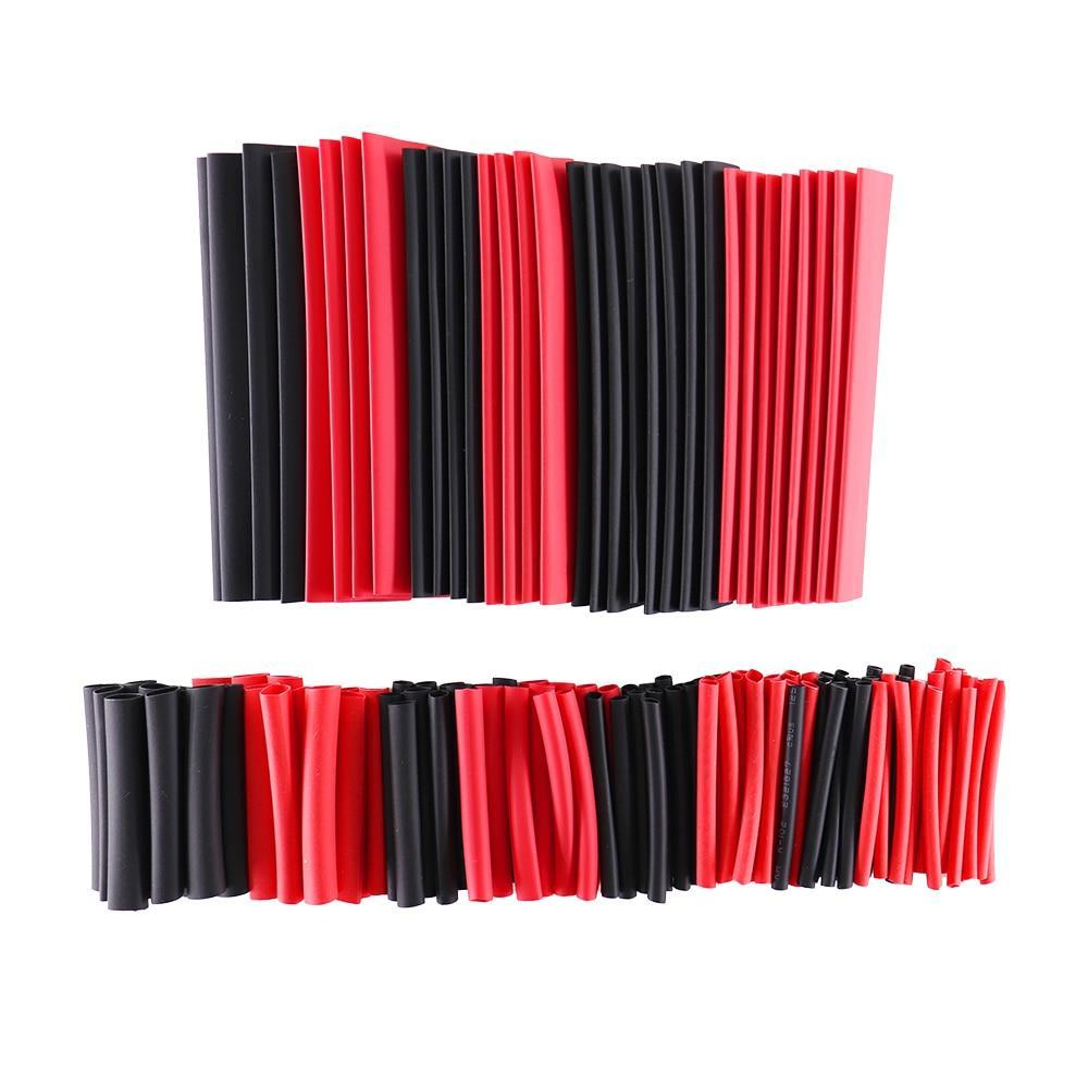 Термоусадочні трубки комплект 127Шт. червоний+чорний