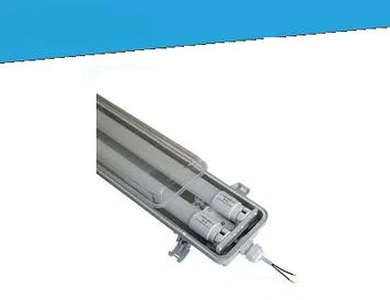 Світильник LED ЕВРОСВЕТ LED-SH-40 2*1200 IP65 з лампами 18Вт 6400К і запобіжником PULS-10