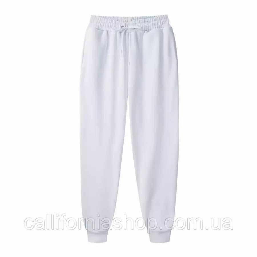 Мужские штаны светло серые спортивные на манжетах внизу двунитка