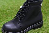 Демісезонні дитячі черевики шкіряні для дівчинки р32-37, фото 8