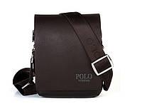 Мужская кожаная сумка через плече Polo, фото 1
