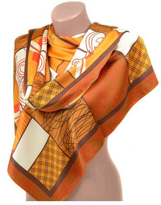 Женский модный шарф 60 на 172 см набивной шелк 10840-B2