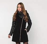 Женское  зимнее комбинированное  пальто  Letta