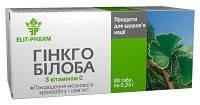 Гинкго Билоба с витамином С (40 таб., Элит-Фарм) – для улучшения памяти, умственной работоспособности