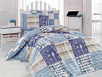 Подростковое постельное бельё Cotton Box Private Mavi
