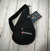 Рюкзак стильная молодежная сумка Swissgear на одно плечо сумка однолямочная