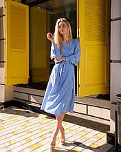 Летнее платье из софта на запах - принт горошек 40-42, 44-46 - 48-50  490грн