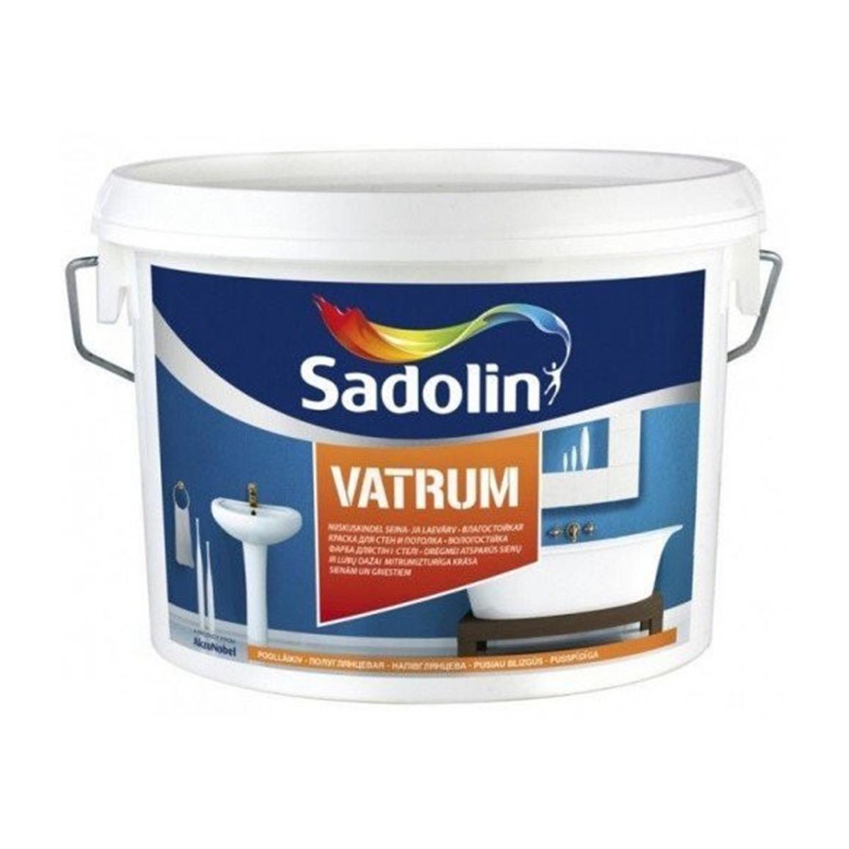 Вологостійка фарба для стін і стелі Sadolin Bindo 40 Vatrum 10л