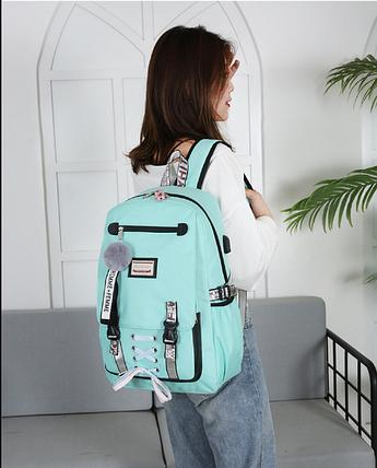 УЦІНКА Шкільний рюкзак HiFlash для дівчаток бірюзовий, фото 2