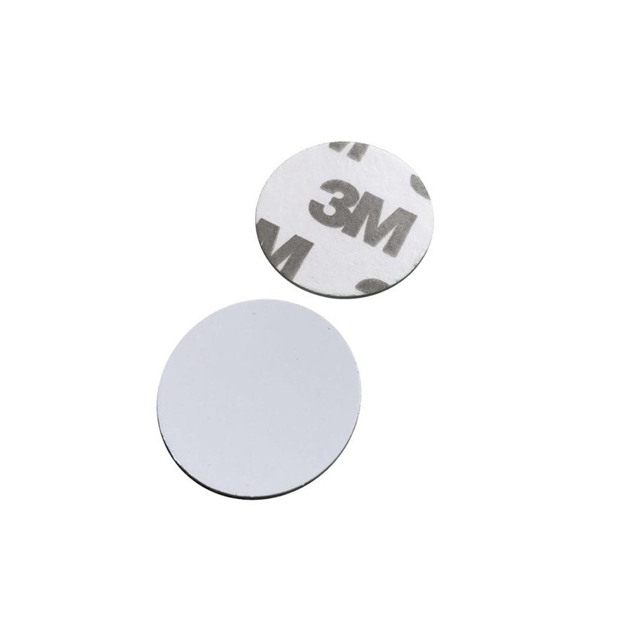 Самоклейка белая Emarine ( Без кода, для перезаписи ) Ø 25 мм