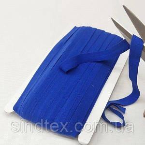 001 Трикотажная окантовочная бейка (эластичная, стрейч) 1,5см х 46м синяя (СИНДТЕКС-1266)