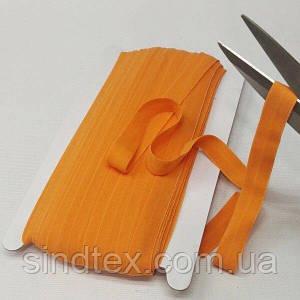006 Трикотажная окантовочная бейка (эластичная, стрейч) 1,5см х 46м оранжевая (СИНДТЕКС-1269)