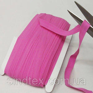 013 Трикотажная окантовочная бейка (эластичная, стрейч) 1,5см х 46м розовая (СИНДТЕКС-1274)