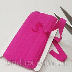 014 Трикотажная окантовочная бейка (эластичная, стрейч) 1,5см х 46м розовая (СИНДТЕКС-1275)