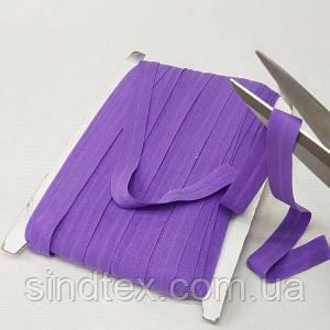 030 Трикотажная окантовочная бейка (эластичная, стрейч) 1,5см х 46м фиолетовая (СИНДТЕКС-1277)