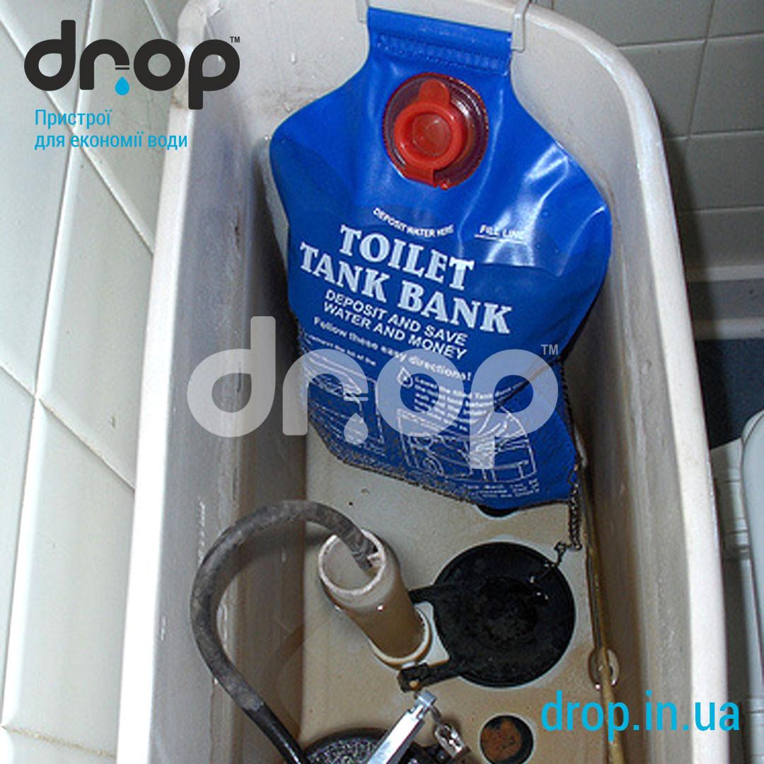 Устновка ограничительного пакета WC bank бачок унитаза