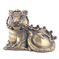 Статуетка Тигр бронзовий 7,5х10х7 см жовта (752)