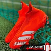 Футбольные Бутсы Adidas Predator Mutator 20+ /Бутсы Адидас Предатор Мутатор Оранжевые 20+