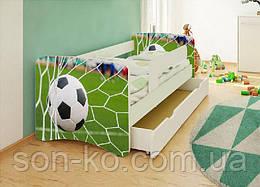 Кровать детская Футбол без шухляды. Бесплатная доставка