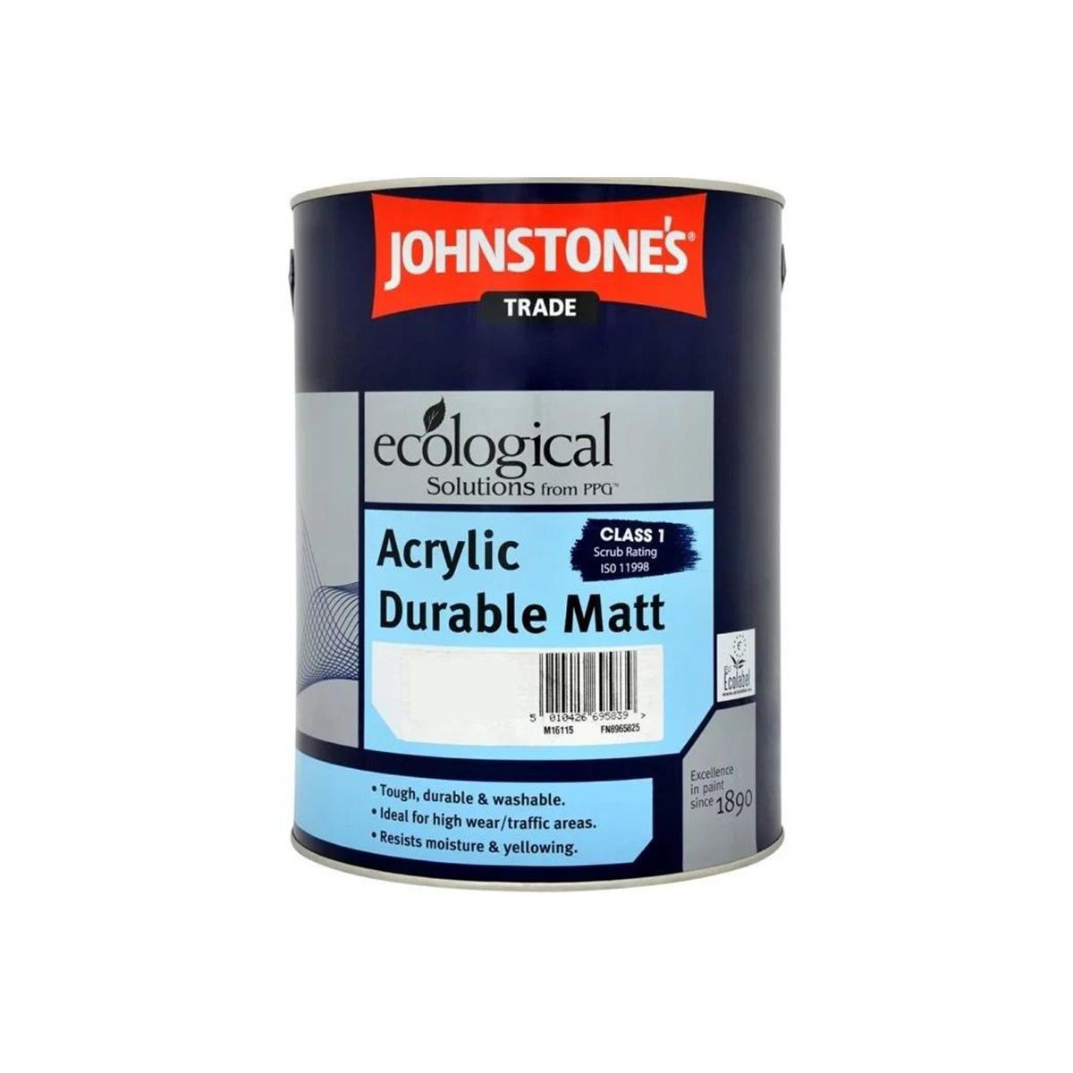 Влагостойкая интерьерная краска Johnstones Acrylic Durable Matt 2.5л