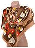 Замечательный женский шарф 60 на 172 см набивной шелк 10840-D2