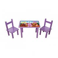 """Столик и два стульчика в детскую """"Лунтик"""""""