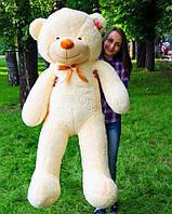 Плюшевый мишка, мягкая игрушка на подарок, мягкий медведь, игрушечный медведь бежевый Рафаэль 160 см, фото 1